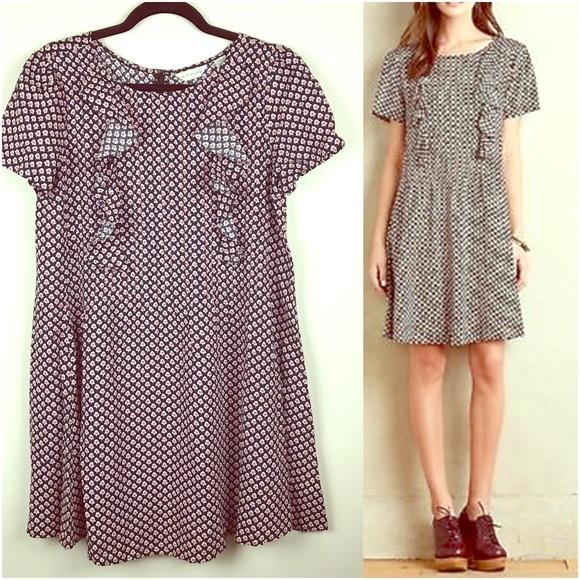 67cb081faed7 Anthropologie Dresses & Skirts - 11-1-TYLHO Pleated Ruffle Tunic Dress  Printed